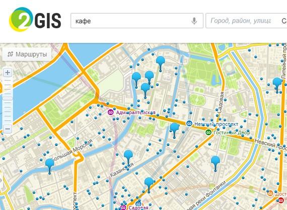 добавить сайт на карту