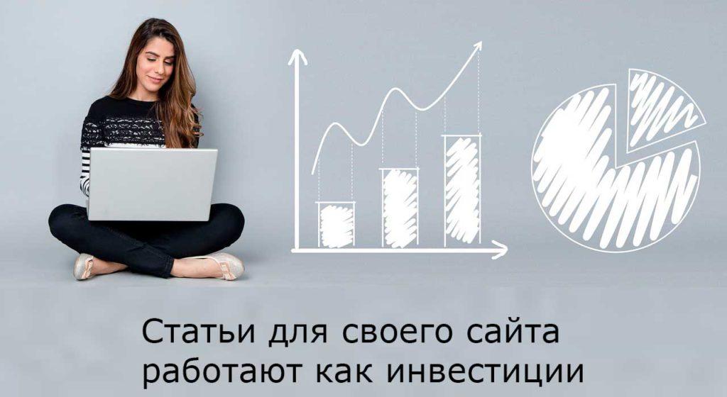 статьи для своего сайта работают как инвестиции